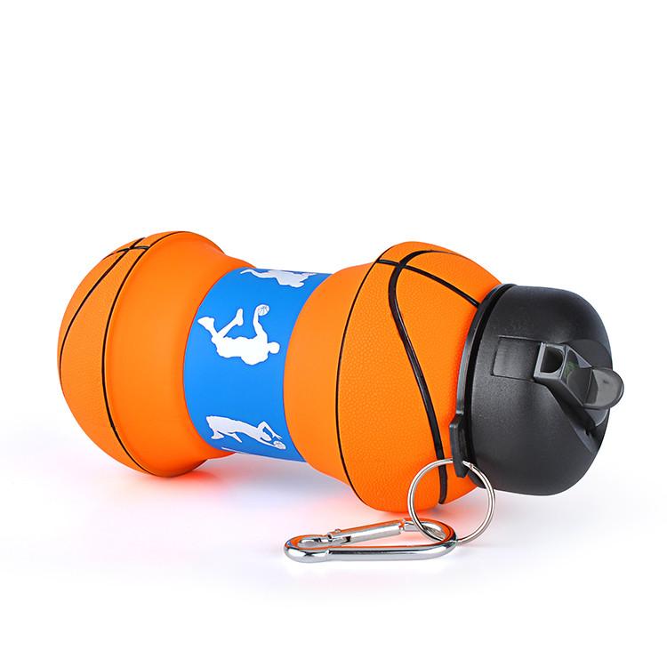 купить силиконовую складную бутылочку баскетбол