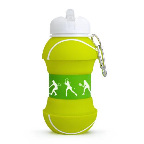 купить складную силиконовую бутылку в виде мяча большой теннис