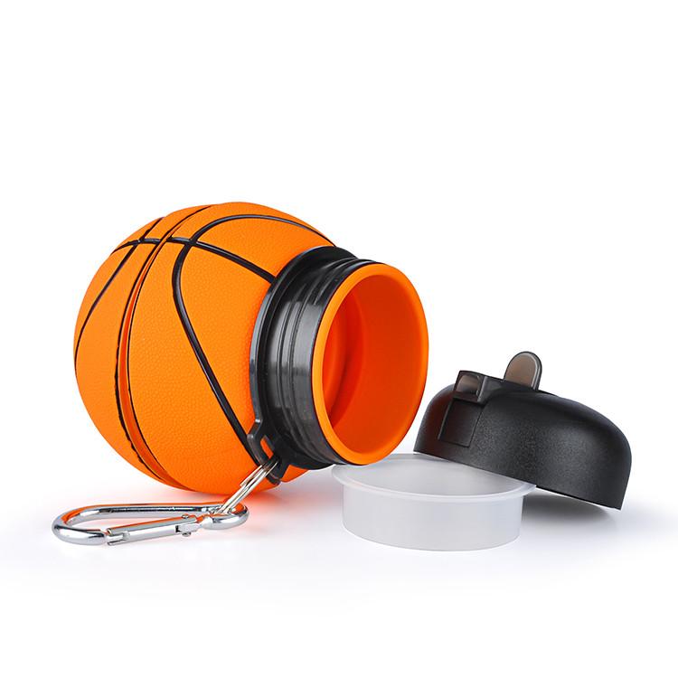 силиконовая бутылка для воды - баскетбольный мяч