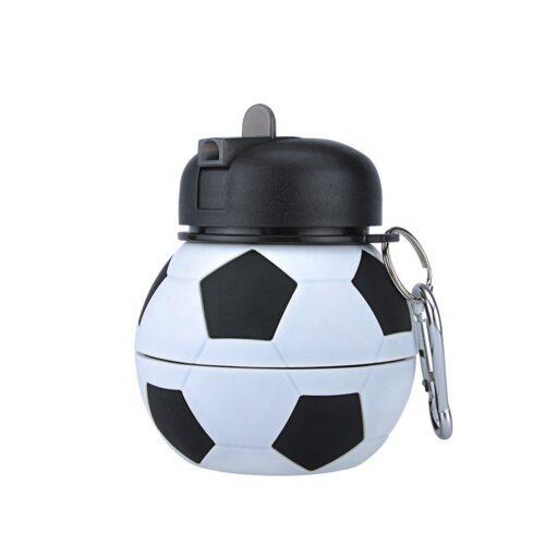 складная силиконовая бутылка для воды футбол