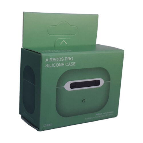 чехол на airpods pro зеленый коробка