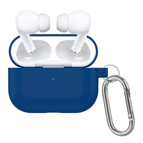 купить чехол силиконовый на airpods pro синий