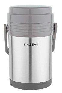 Термос пищевой KING Hoff KH-4075 1500мл. серебристый + чехол фото 2