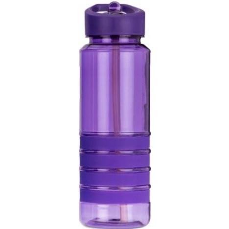 Бутылка для воды с трубочкой Smile SBP-1750 мл. фиолетовая фото 1