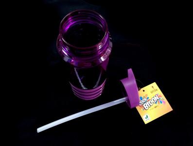Бутылка для воды с трубочкой Smile SBP-1750 мл. фиолетовая фото 3