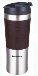 Термокружка Klausberg KB-7150 480мл. серебристо-коричневая фото 1