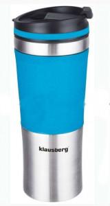 Термокружка Klausberg KB-7150 480мл. серебристо-синяя фото 1