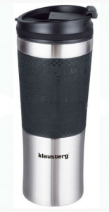 Термокружка Klausberg KB-7150 480мл. серебристо-черная фото 1