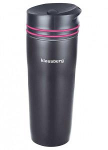 Термокружка Klausberg KB-7149 380мл. черно-розовая фото 1