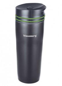 Термокружка Klausberg KB-7149 380мл. черно-зеленая фото 1