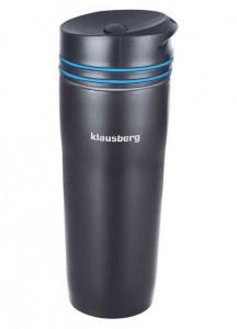 Термокружка Klausberg KB-7149 380мл. черно-синяя фото 1