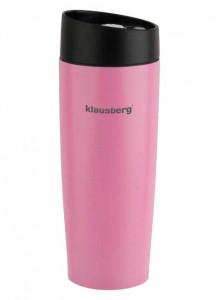 Термокружка Klausberg KB-7148 380мл. розовая фото 1