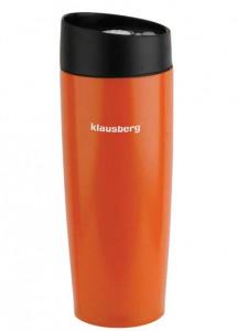 Термокружка Klausberg KB-7148 380мл. оранжевая фото 1