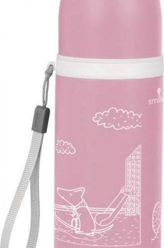 Термос Smile STT-3 350мл розовый фото 1