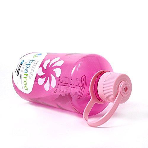 Бутылка для воды Nalgene Narrow Mouth 1 л. Розовая фото 2
