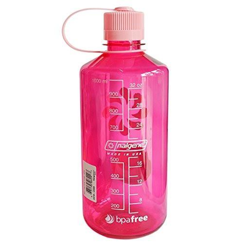 Бутылка для воды Nalgene Narrow Mouth 1 л. Розовая фото 4
