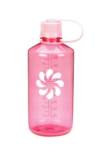 Бутылка для воды Nalgene Narrow Mouth 1 л. Розовая фото 1