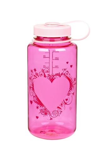 Бутылка для воды Nalgene Wide Mounth Heart малиновая 1 л. фото 1