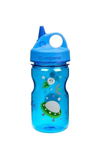 Бутылка для воды детская Nalgene Grip-n-Gulp синяя Space Art. 350 мл. фото 1