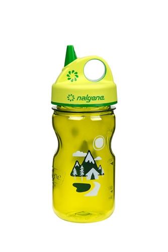 Бутылка для воды детская Nalgene Grip-n-Gulp зеленая Trail Art. 350 мл. фото 1