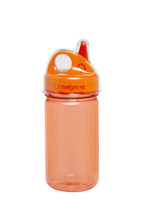 Бутылка для воды детская Nalgene Grip-n-Gulp оранжевая 350 мл. фото 1