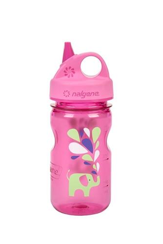 Бутылка для воды детская Nalgene Grip-n-Gulp розовая Elephant Art. 350 мл. фото 1