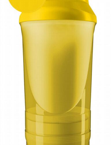 Шейкер спортивный ShakerStore Wave + с 2-мя контейнерами желтый фото 1