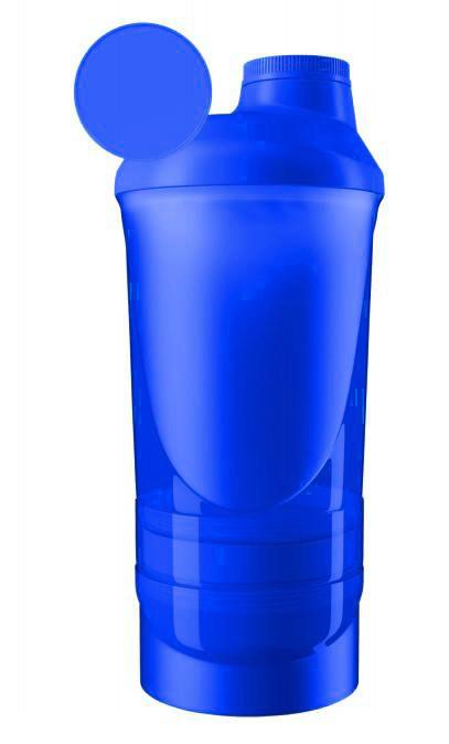 Шейкер спортивный ShakerStore Wave + с 2-мя контейнерами синий фото 1