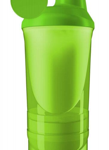 Шейкер спортивный ShakerStore Wave + с 2-мя контейнерами зеленый фото 1