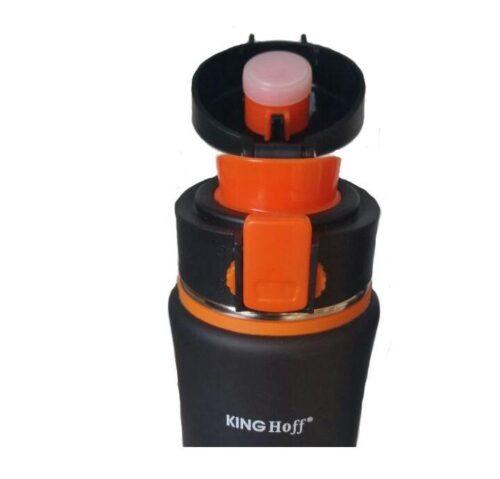 Термокружка КING Hoff KH-4371 500мл. черно-оранжевая фото 3