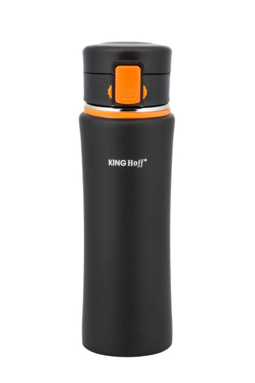 Термокружка КING Hoff KH-4371 500мл. черно-оранжевая фото 1