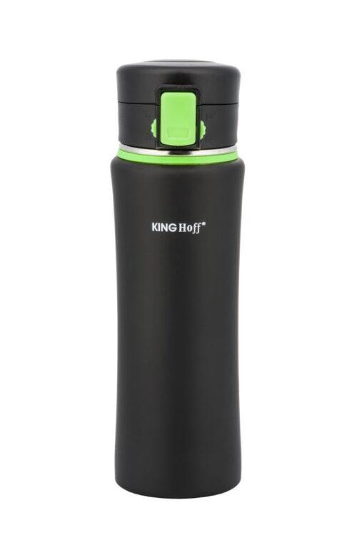 Термокружка КING Hoff KH-4371 500мл. черно-зеленая фото 1