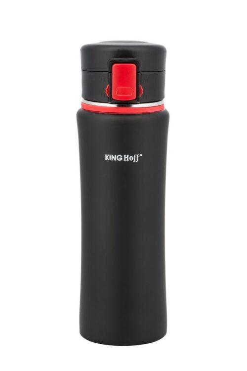 Термокружка КING Hoff KH-4371 500мл. черно-красная фото 1
