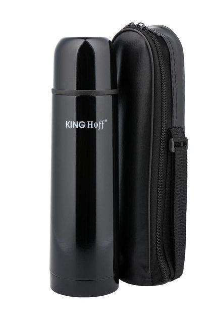Термос KING Hoff KH-4055 350мл. черный + чехол фото 1