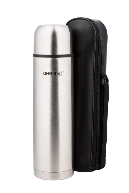 Термос KING Hoff KH-4052 500мл. серебристый + чохол фото 1