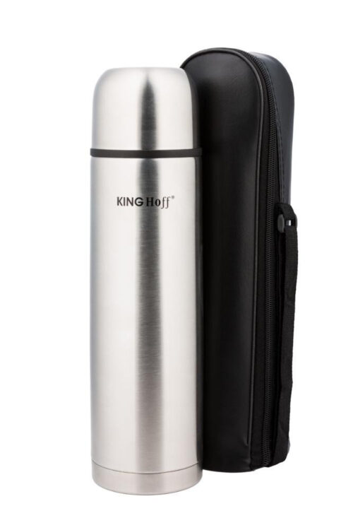 Термос KING Hoff KH-4053 750мл. серебристый + чехол фото 1