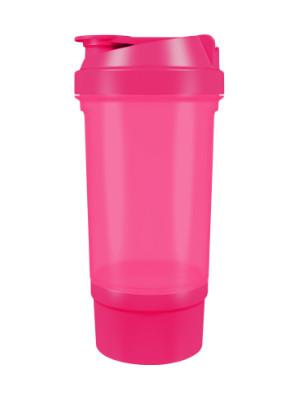 Шейкер спортивный Shake360 500 мл. с контейнером Розовый фото 1