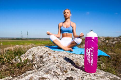 Спортивная бутылка PowerPlay Rocket Bottle 750 мл фиолетовая фото 4