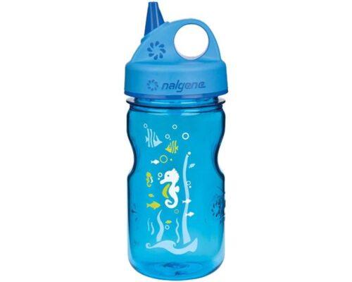 Пляшка для води дитяча Nalgene Grip-n-Gulp синяя  Art. 350 мл. фото 1