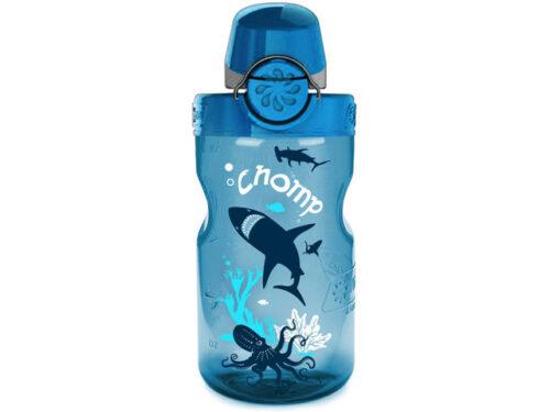 Бутылка для воды Nalgene OTF Kids 350 мл. Blue Slate-Chomp фото 1