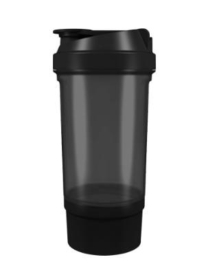 Шейкер спортивный Shake360 500 мл. с контейнером Черный фото 1