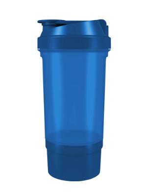 Шейкер спортивный Shake360 500 мл. с контейнером Синий фото 1