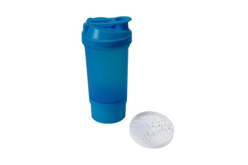 Шейкер спортивный Shake360 500 мл. с контейнером Синий фото 2