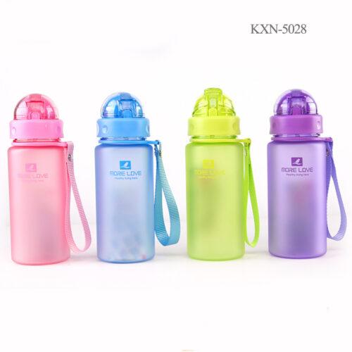 Пляшка для води CASNO 400 мл MX-5028 More Love Фіолетова з соломинкою фото 6