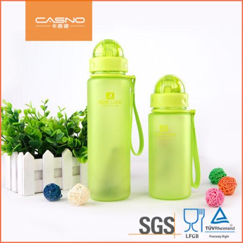 Пляшка для води CASNO 400 мл MX-5028 More Love Зелена з соломинкою фото 5
