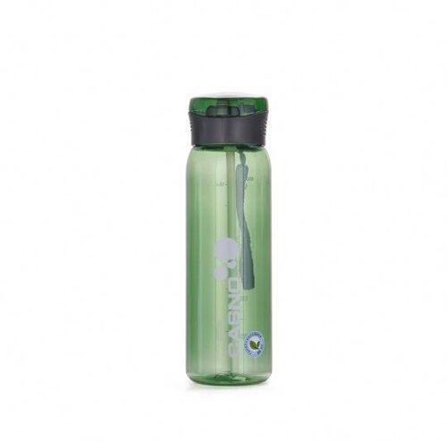 Пляшка для води CASNO 600 мл KXN-1211 Зелена з соломинкою фото 2