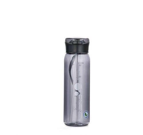Пляшка для води CASNO 600 мл KXN-1211 Чорна з соломинкою фото 2