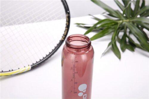 Пляшка для води CASNO 600 мл KXN-1211 Червона з соломинкою фото 4