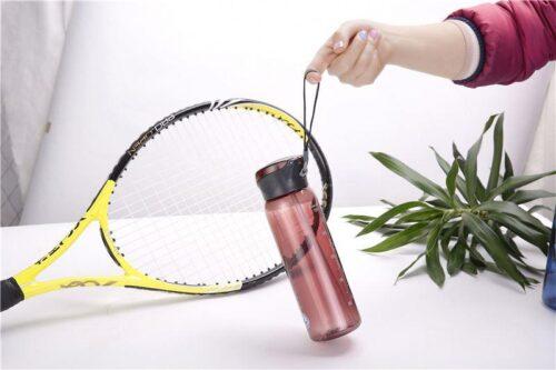 Пляшка для води CASNO 600 мл KXN-1211 Червона з соломинкою фото 6