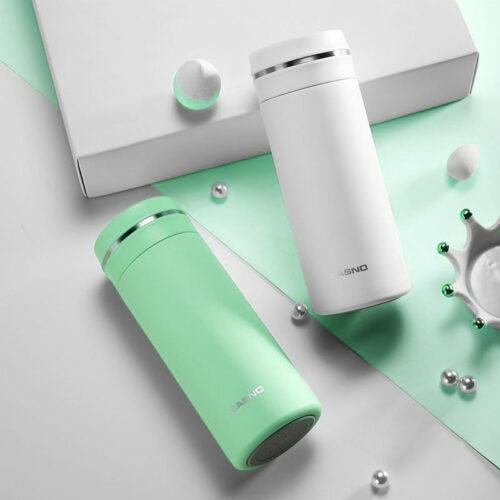 Термопляшка CASNO 450 мл KXN-6059 Зелена фото 3